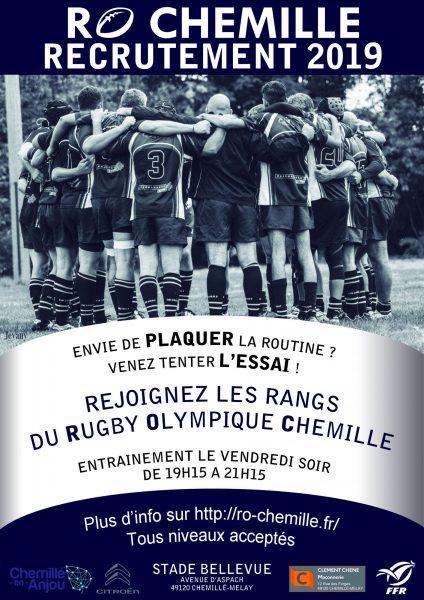 recrutement rugby chemillé